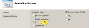 Application settings (DLL)