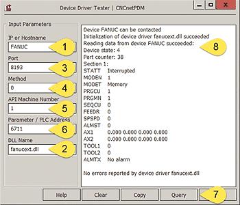 CNCnetPDM Device Driver Tester
