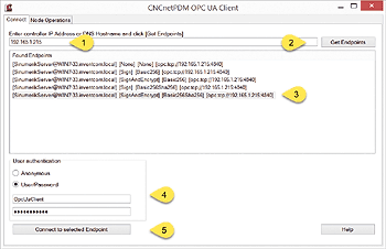 Connect to OPC UA server
