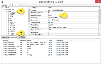 OPC UA Server Nodes & Variables