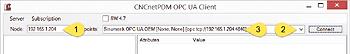 Connect CNCnetPDM OPC UA Client