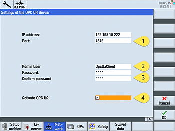 Configure OPC UA at the controller