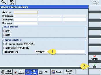 Add TCP OPC UA Port