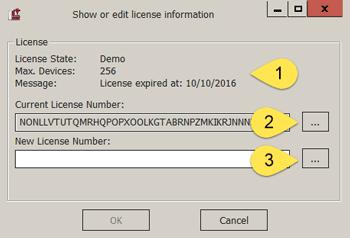 Licensing dialog (CNCnetControl)