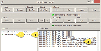 CNCnetControl MTConnect device driver
