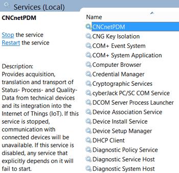 Installed background service (SCM)