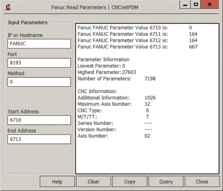 Read Write Parameters | Fanuc | Support | inventcom